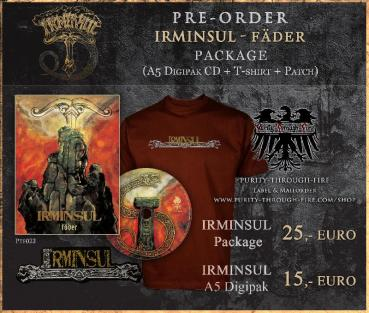 Irminsul - Fäder Package A5 Digipak + T-Shirt XL + Patch