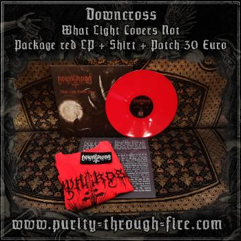Downcross ‎- What Light Covers Not Package LP red + Shirt + Patch