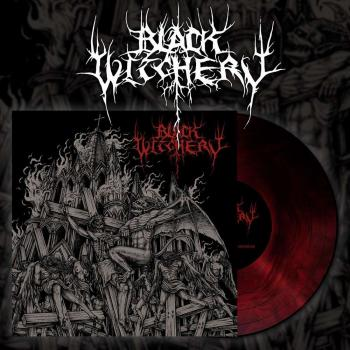 Black Witchery - Inferno Of Sacred Destruction LP - Red Galaxy Vinyl