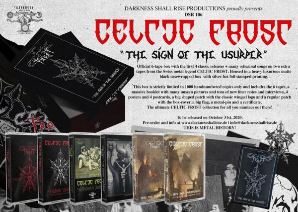 Celtic Frost - The Sign of the Usurper 6-tape box
