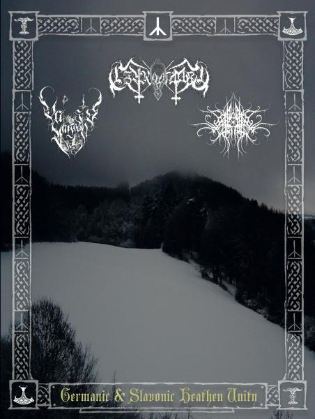 Czarnobog / Valosta Varjoon / Necro Forest Split CD DinA5 Digipak CD lim. 99